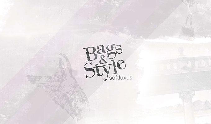 Bags and Style Logo und Corporate-Design mit pastellfarbenen Hintergundbild