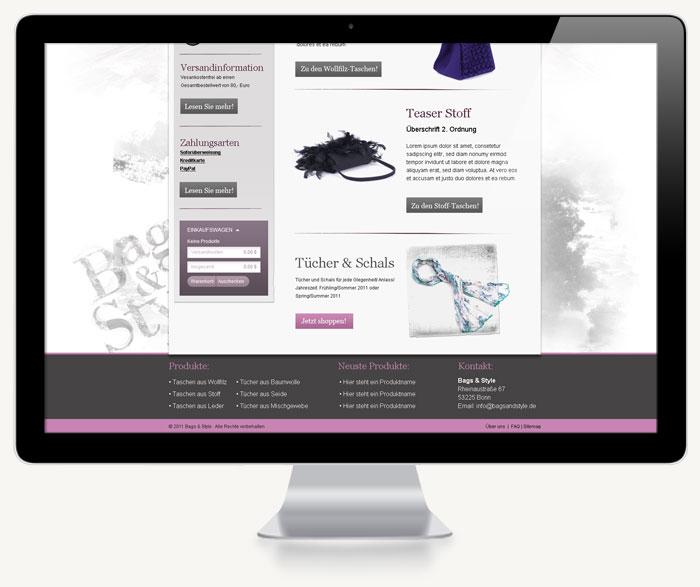 Zweiter Screenshot Bags & Style Onlineshop
