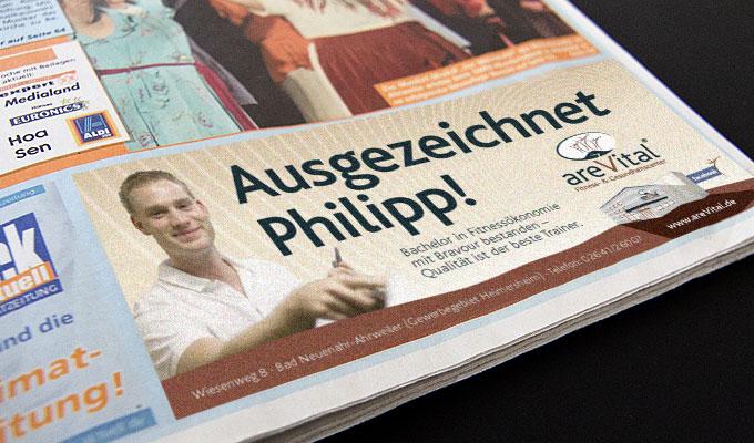 areVital Zeitungsanzeige im Blick aktuell