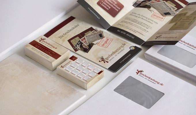 Print geschenkzeitung.de, Flyer und Visitenkarten