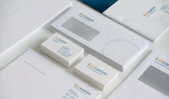 Print ilabcomm, Visitenkarten und Briefkopf