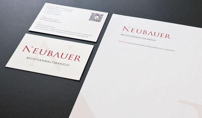 Neubauer Visitenkarten und Briefpapier