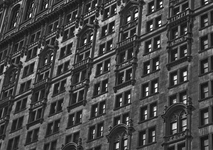 Häuserwand in New York City , Stadtteil Soho