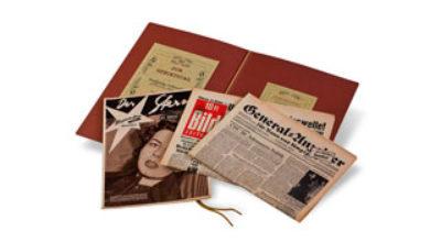 Vorschaubild Geschenkmappe mit Zeitungen und Illustrierten