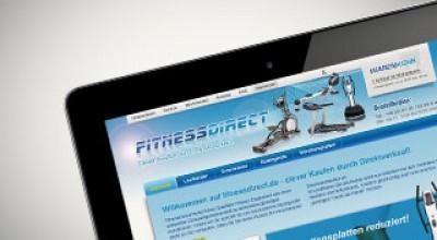Vorschaubild Onlineshop fitnessdirect.de