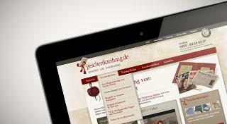 Vorschaubild Onlineshop geschenkzeitung.de