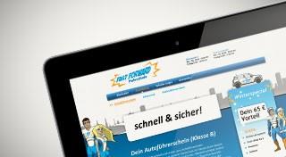 Vorschaubild Webdesign Fast Forward Fahrschule