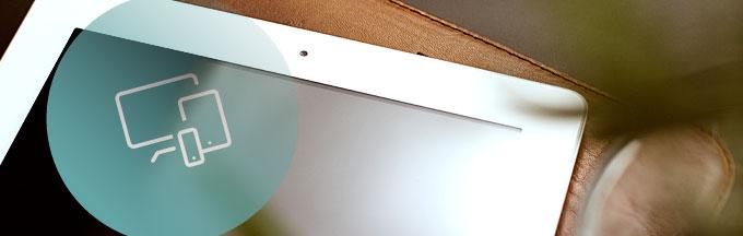 Webdesign Bonn, Ipad auf Schreibtisch
