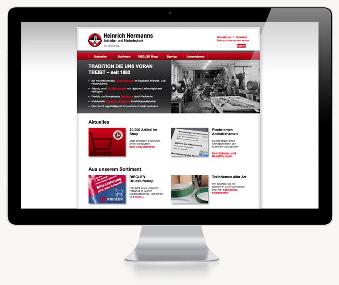 Startseite Webdesign Hermanns-Bonn
