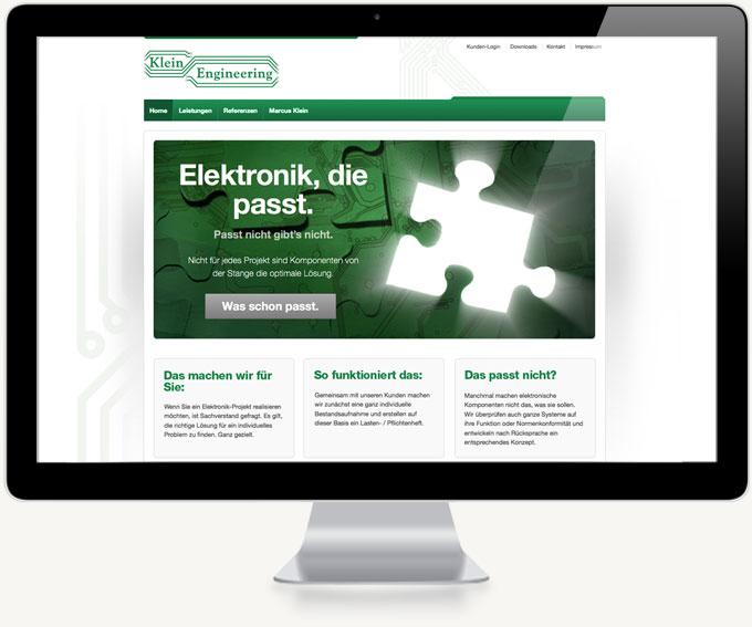 Screenshot Webdesign Klein Startseite