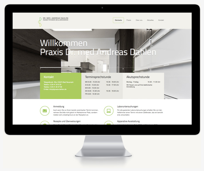 Website Praxis Dr. Dahlen