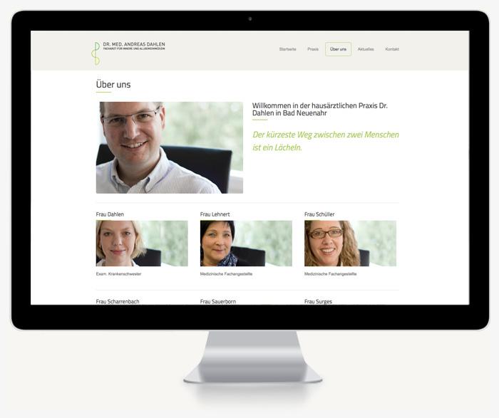 Bildschirmfoto Website Dr. Dahlen